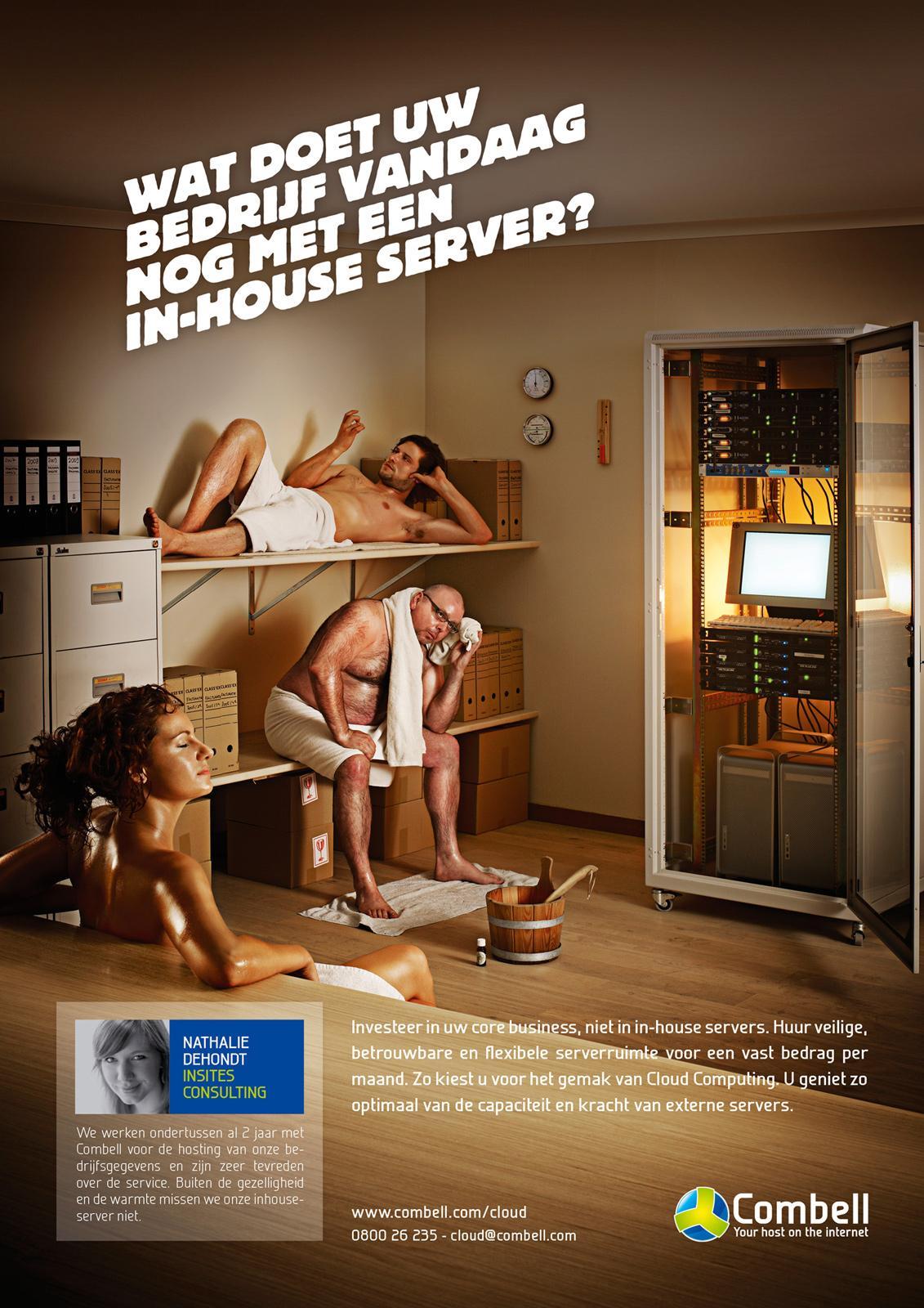 Combell Print Ad -  Sauna