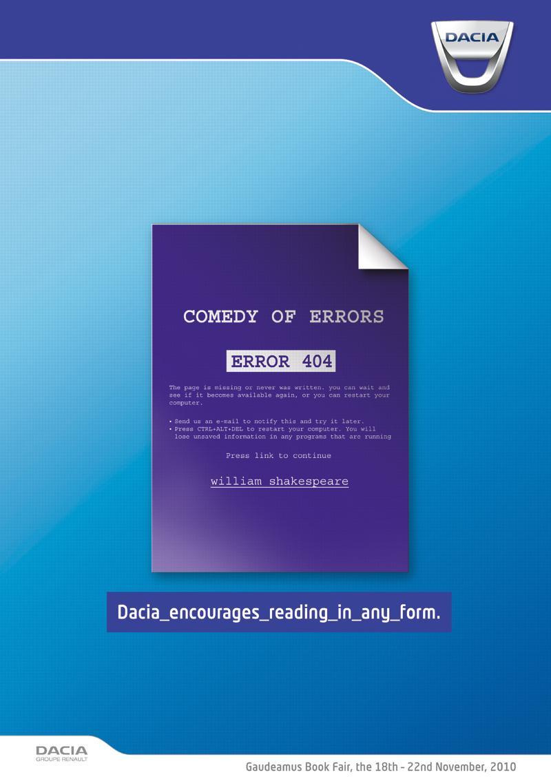 Dacia Print Ad -  Comedy of Errors