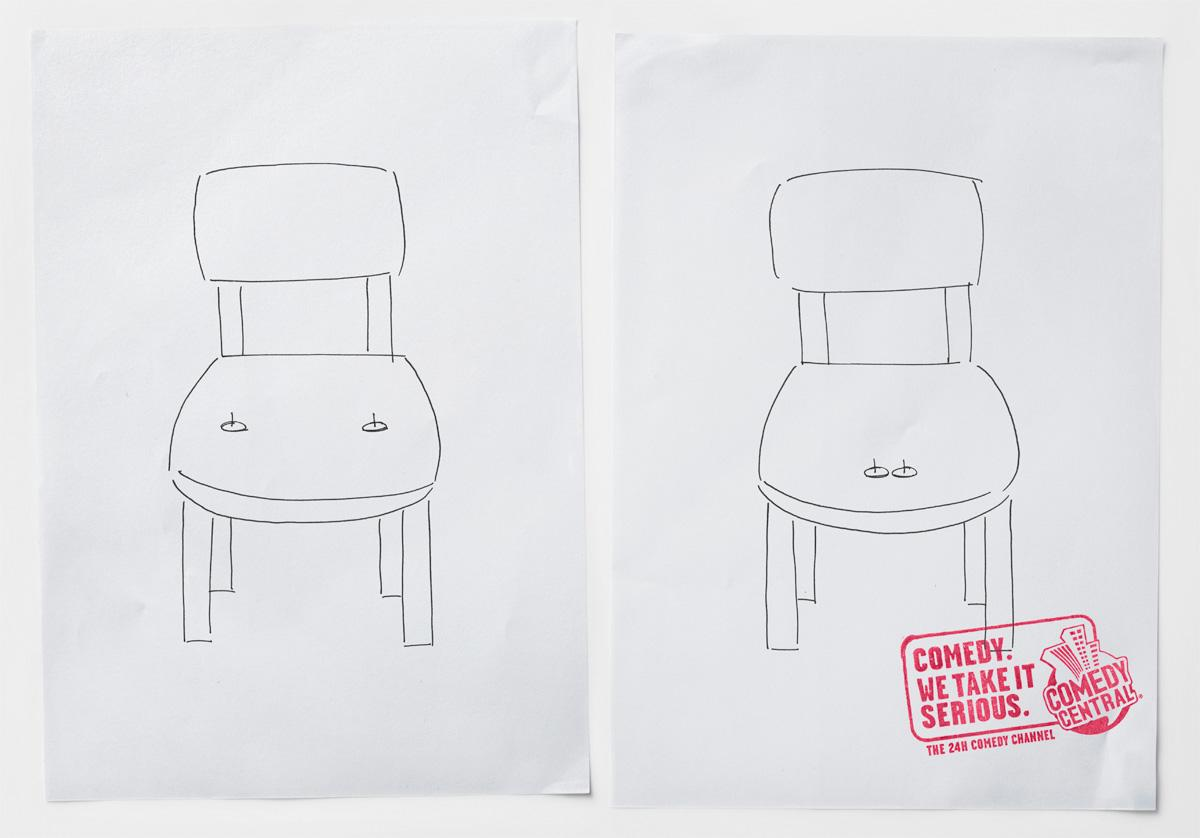 Comedy Central Print Ad -  Chair