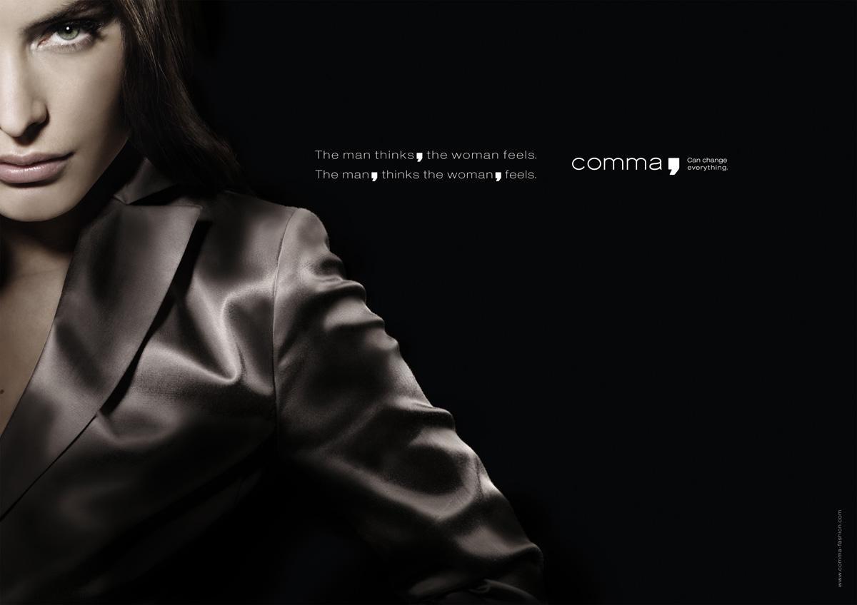 comma Print Ad -  Feels