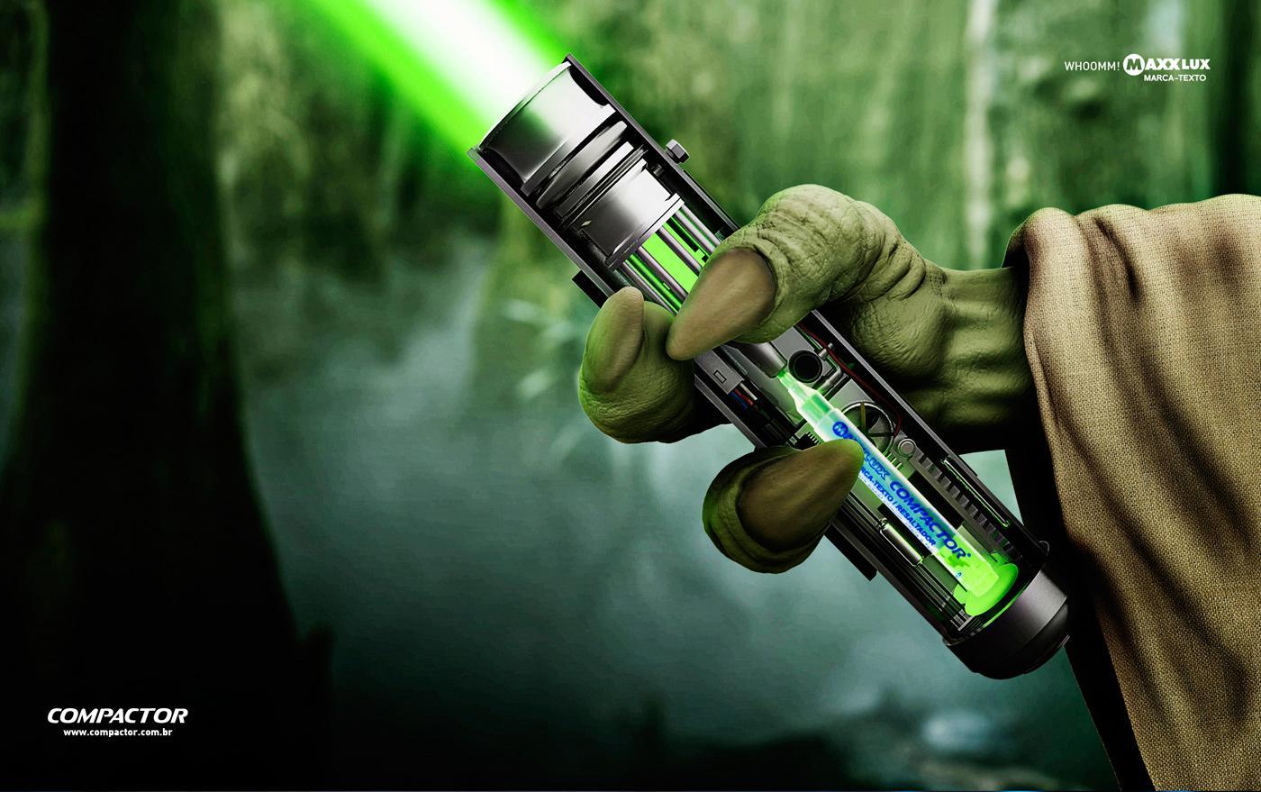 Compactor Print Ad -  Yoda