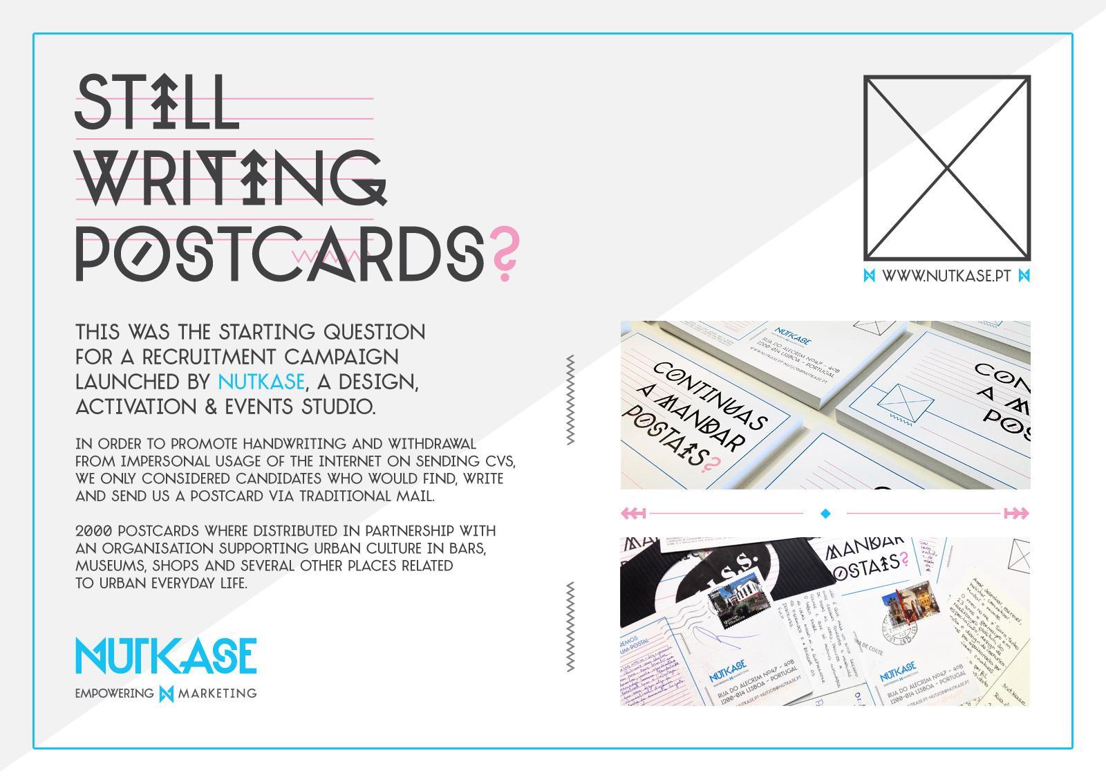 Nutkase Direct Ad -  Postcards