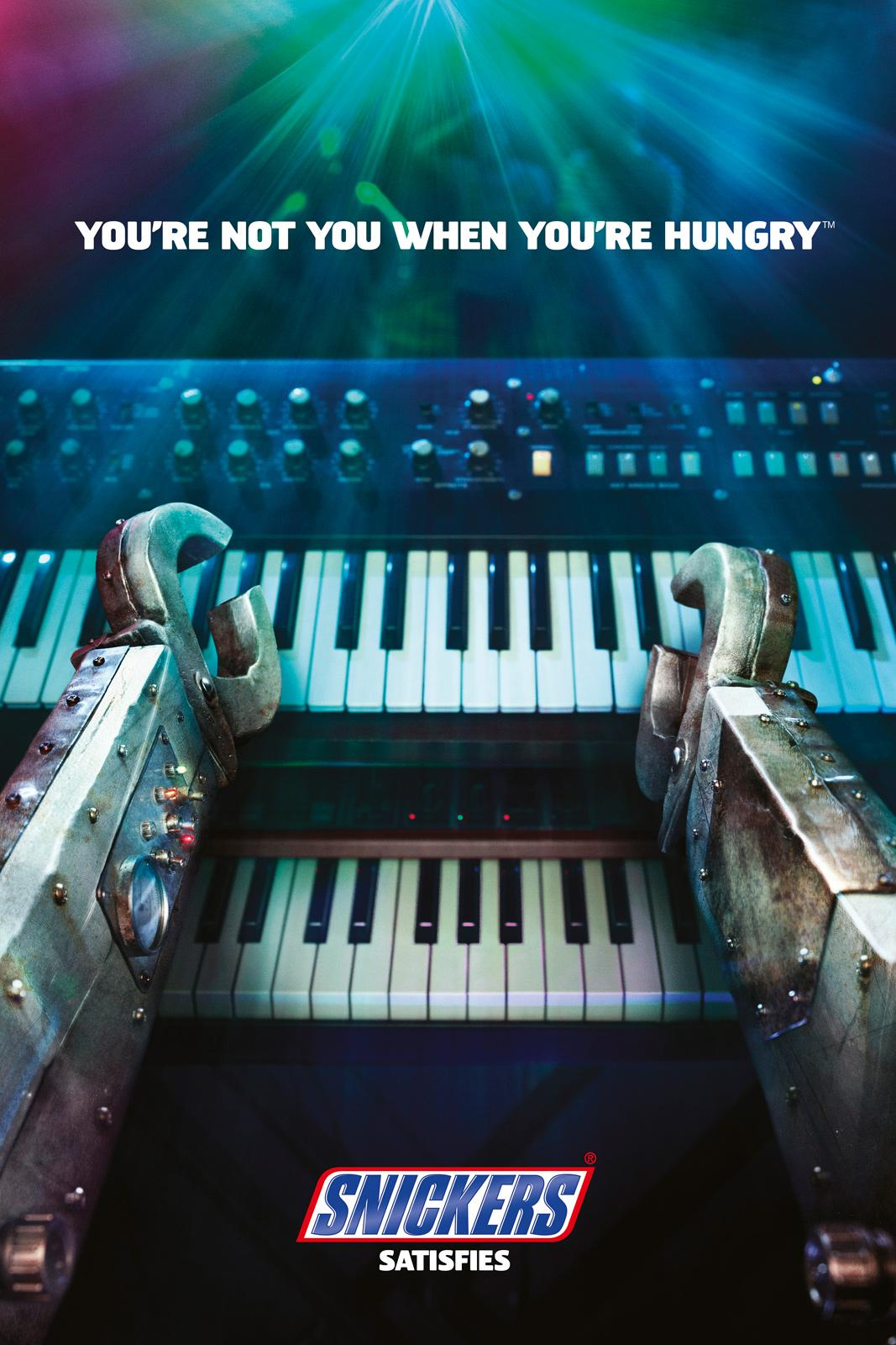 Snickers Outdoor Ad -  You're not you when you're hungry, Concert