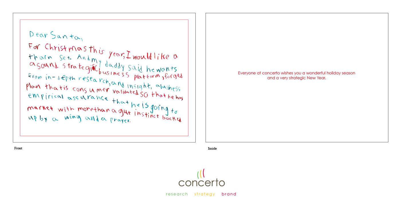 Concerto Direct Ad -  Dear Santa