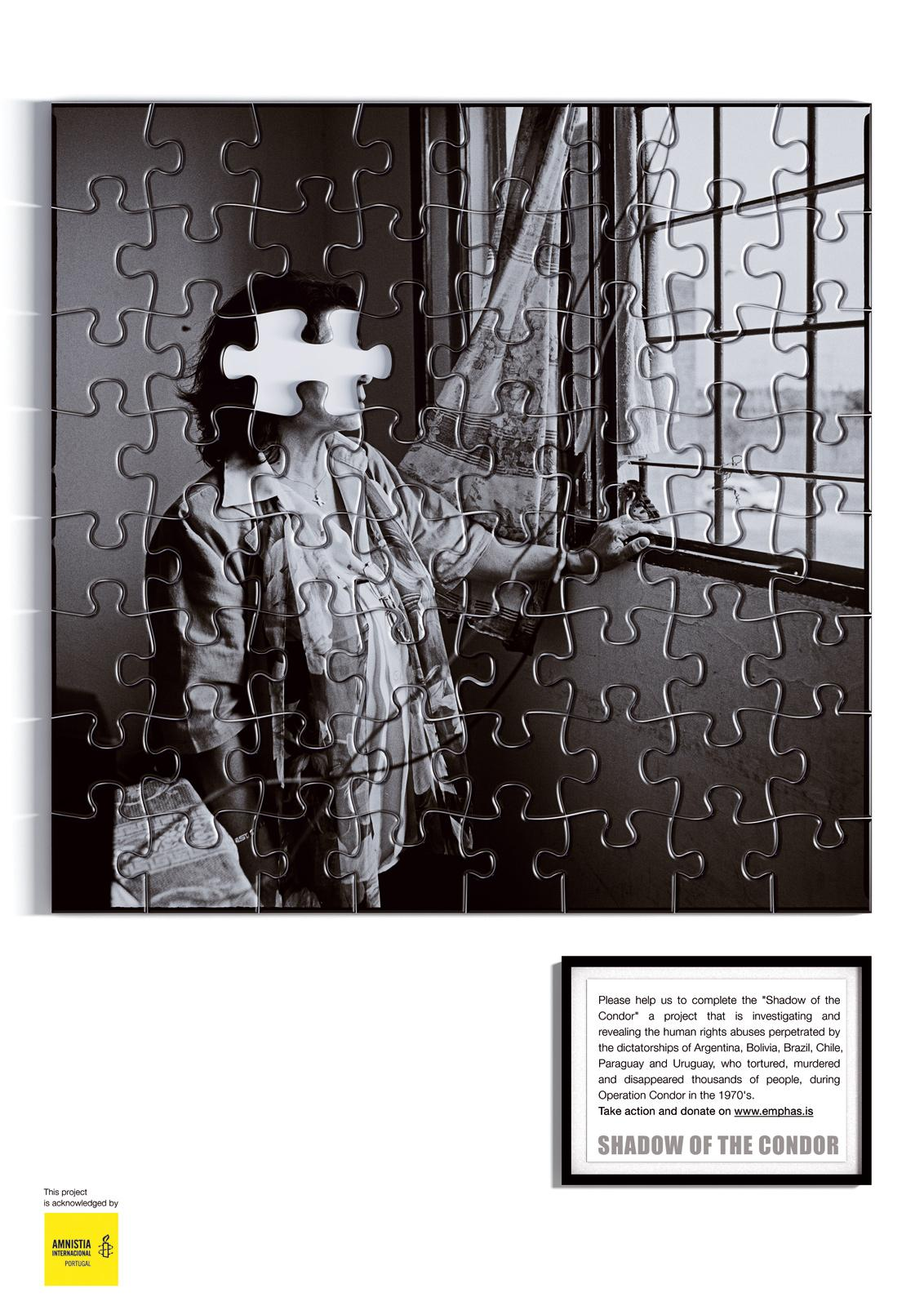 Amnesty International Print Ad -  Shadow Of The Condor Project, 3