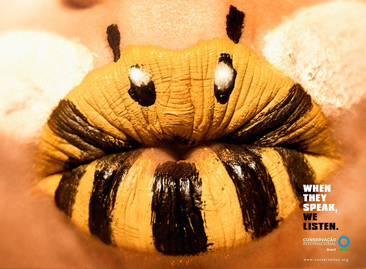 Conservation International Print Ad -  Lipstick, Bee