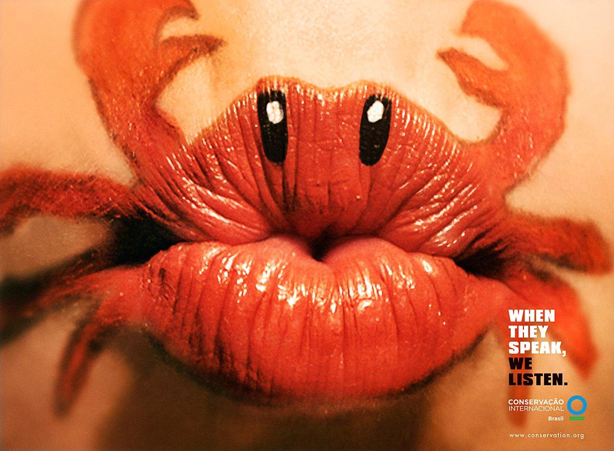 conservation international print advert by africa lipstick crab