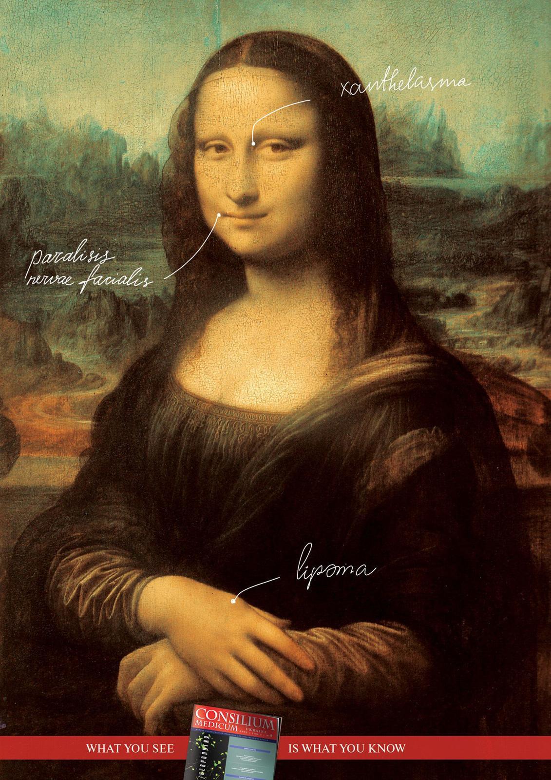 Consilium Medicum Print Ad -  Mona Lisa