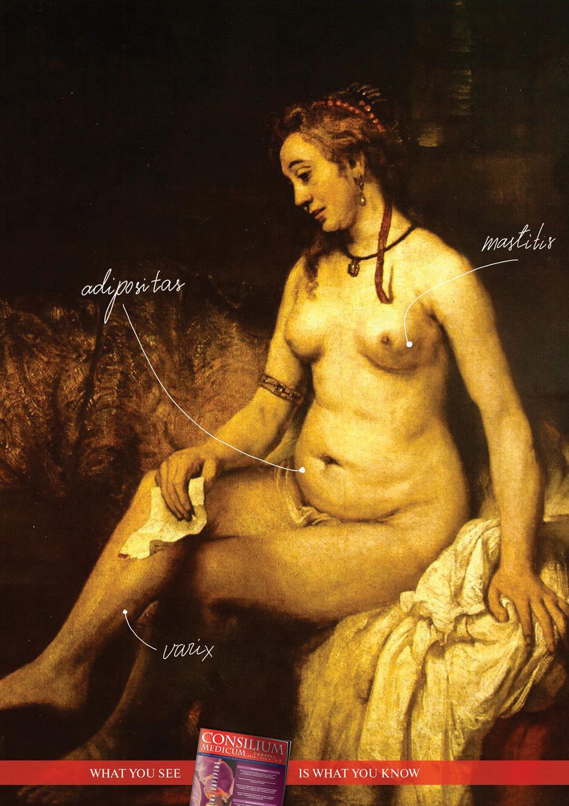 Consilium Medicum Print Ad -  Bethsabée in the bath