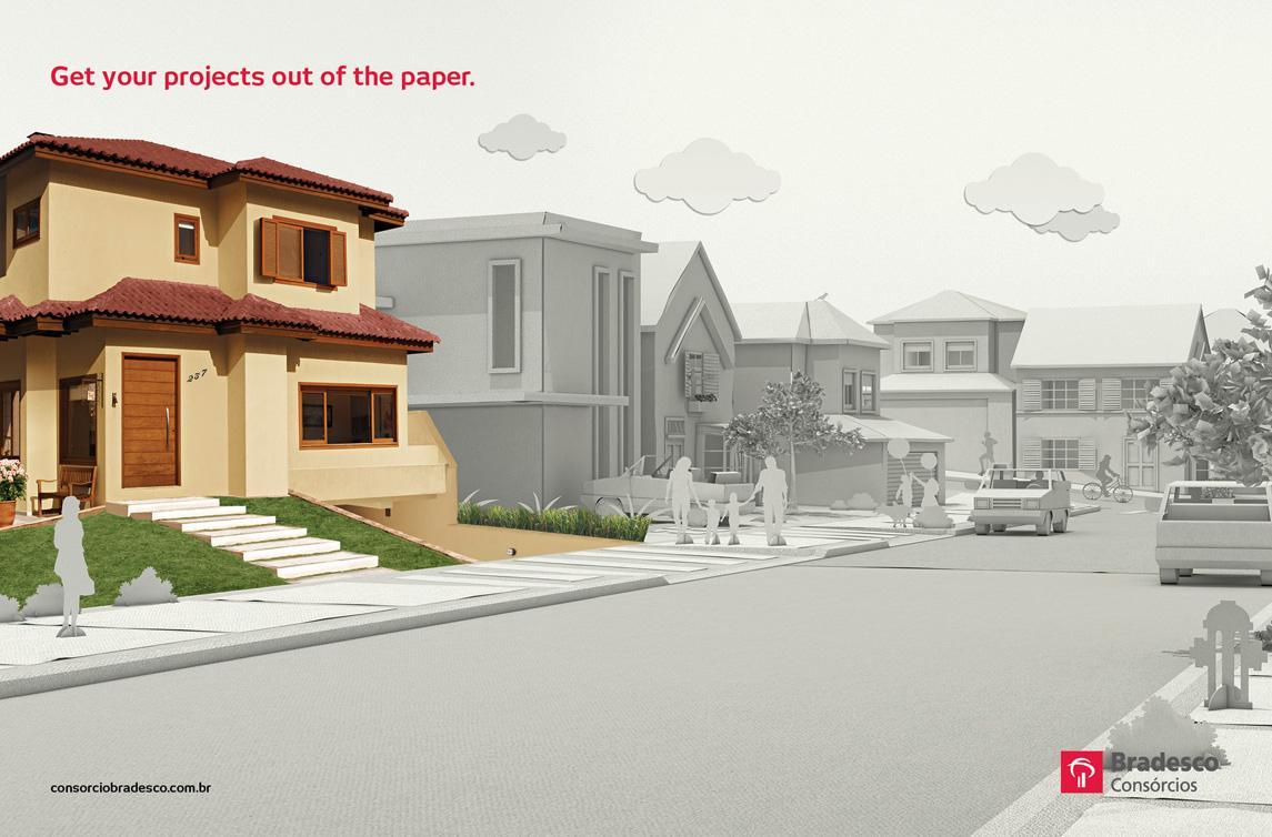 Bradesco Print Ad -  Home