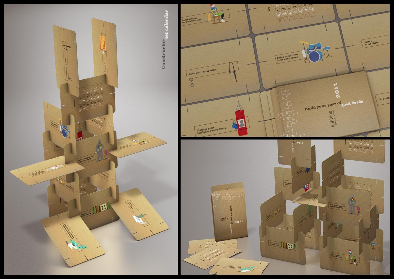 Kaffeine Direct Ad -  Construction set calendar 2011