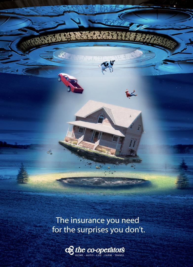 The Co-operators Outdoor Ad -  UFO