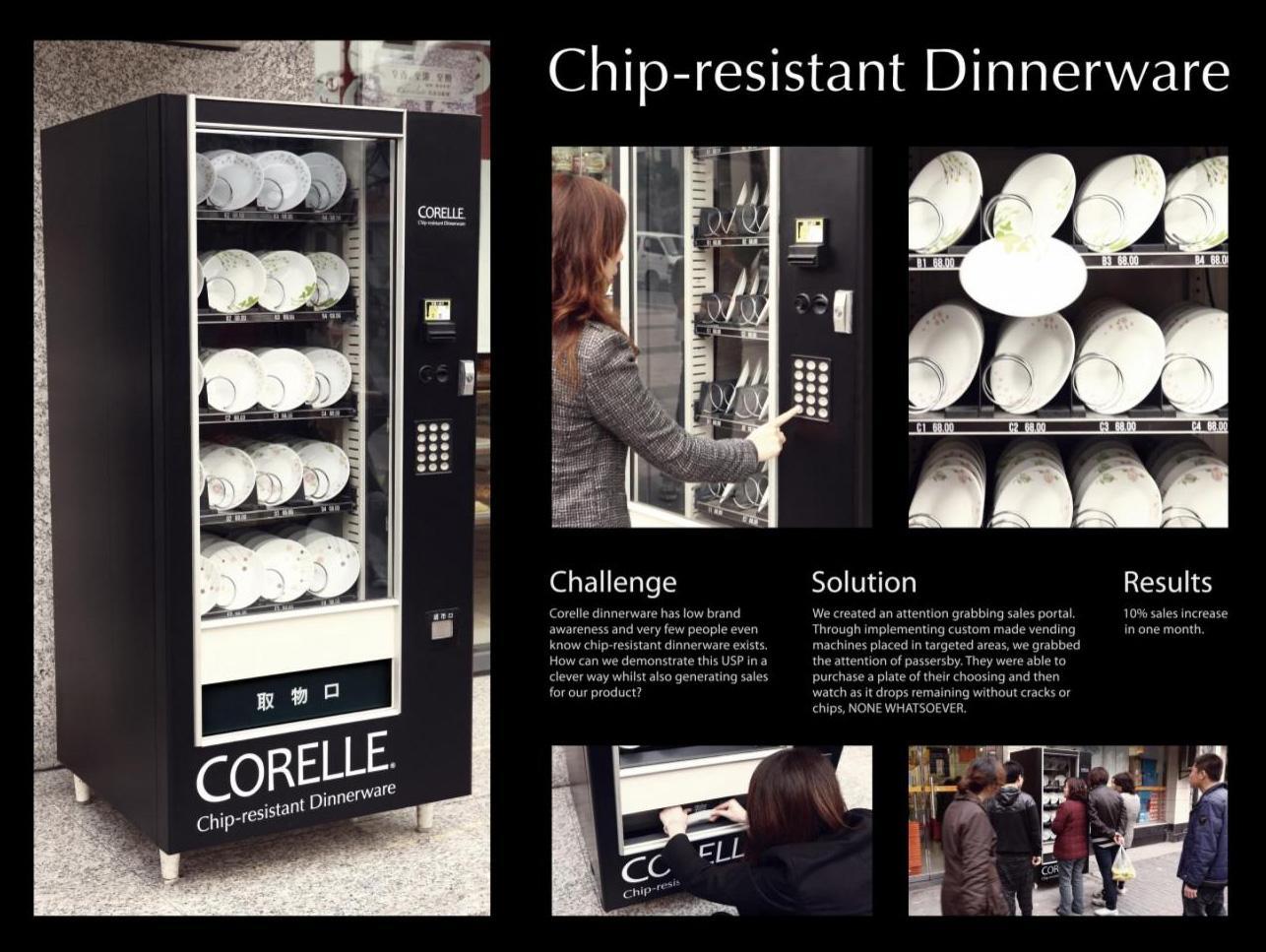 Corelle Ambient Ad -  Vending Machine