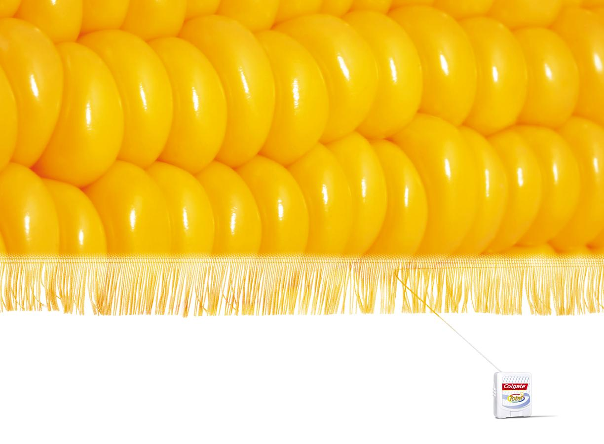 Colgate Print Ad -  Corn thread