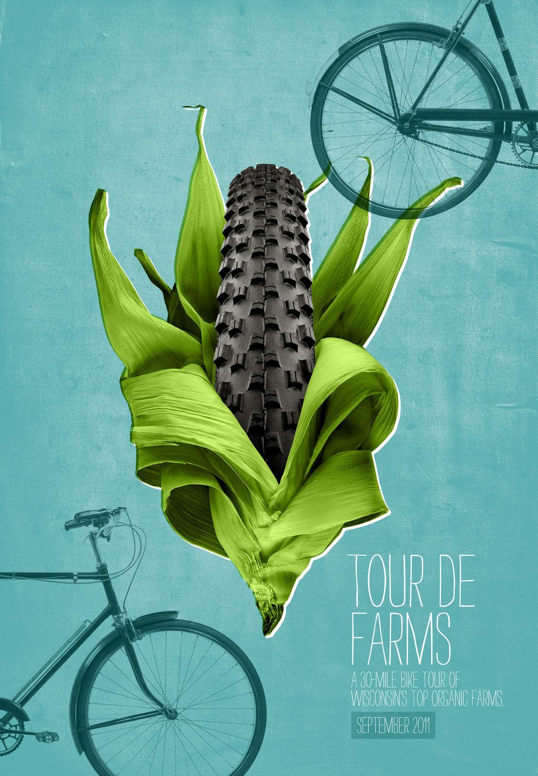 Braise Local Food Print Ad -  Tour de Farms, Corn tire