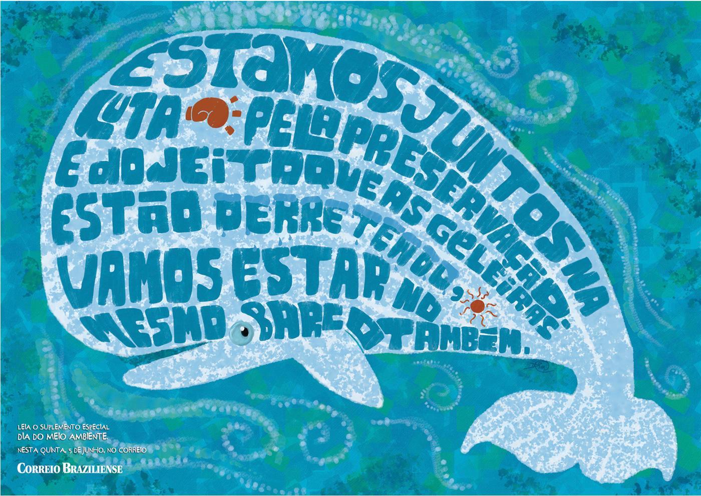 Correio Braziliense Print Ad -  Whale