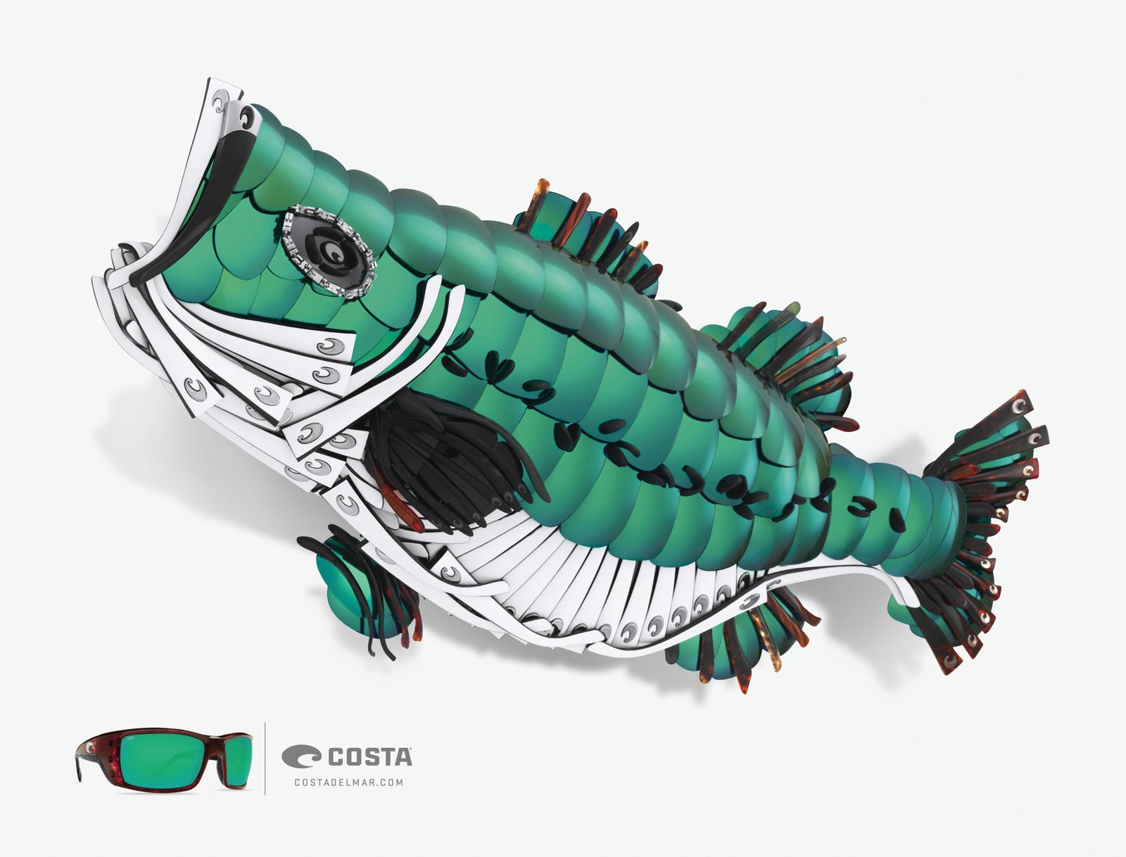 Costa Sunglasses Print Ad -  Bass