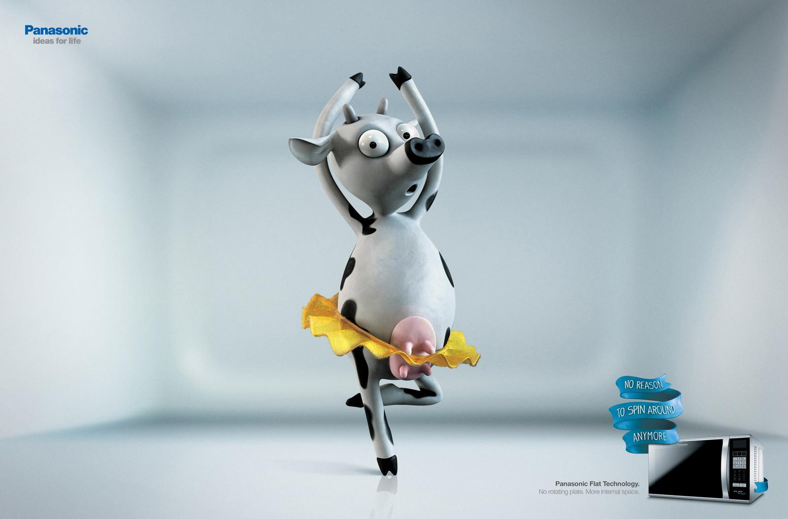 Panasonic Print Ad -  Cow