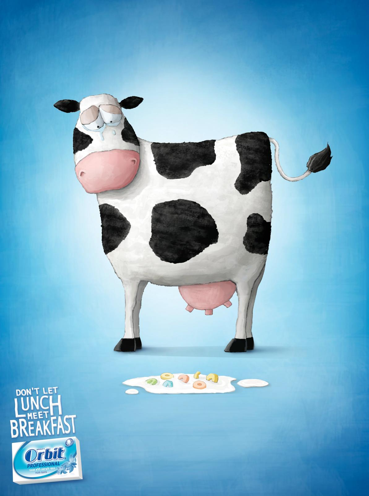 Wrigley's Print Ad -  Cow