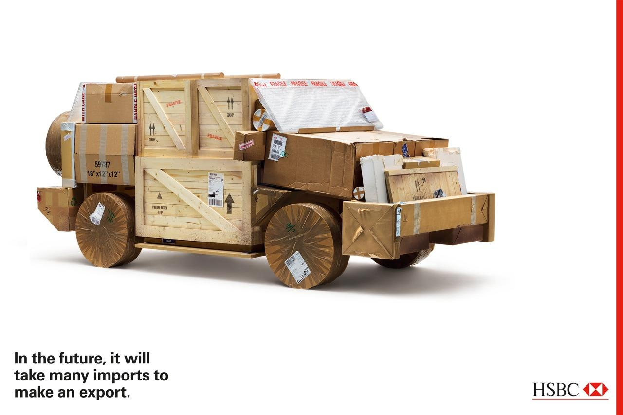 HSBC Print Ad -  Crate car