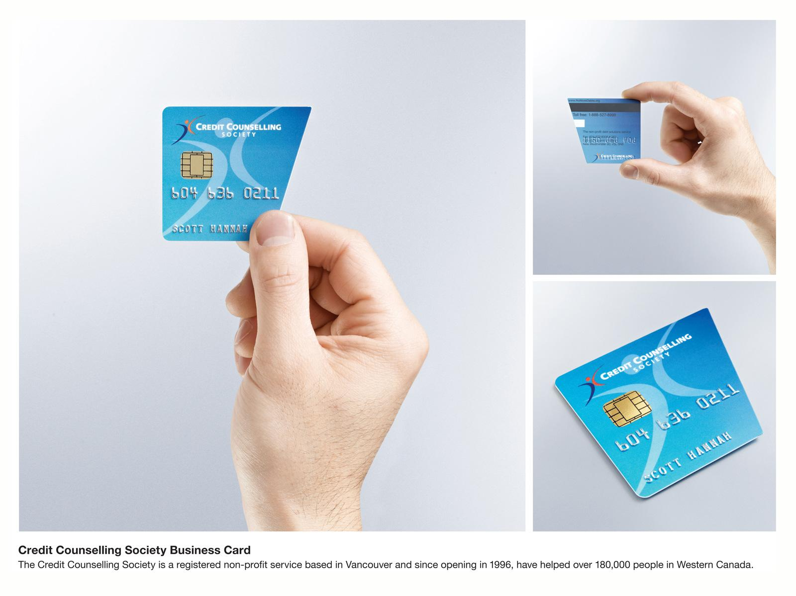 Credit Counselling Society Direct Advert By Rethink: Business Card ...