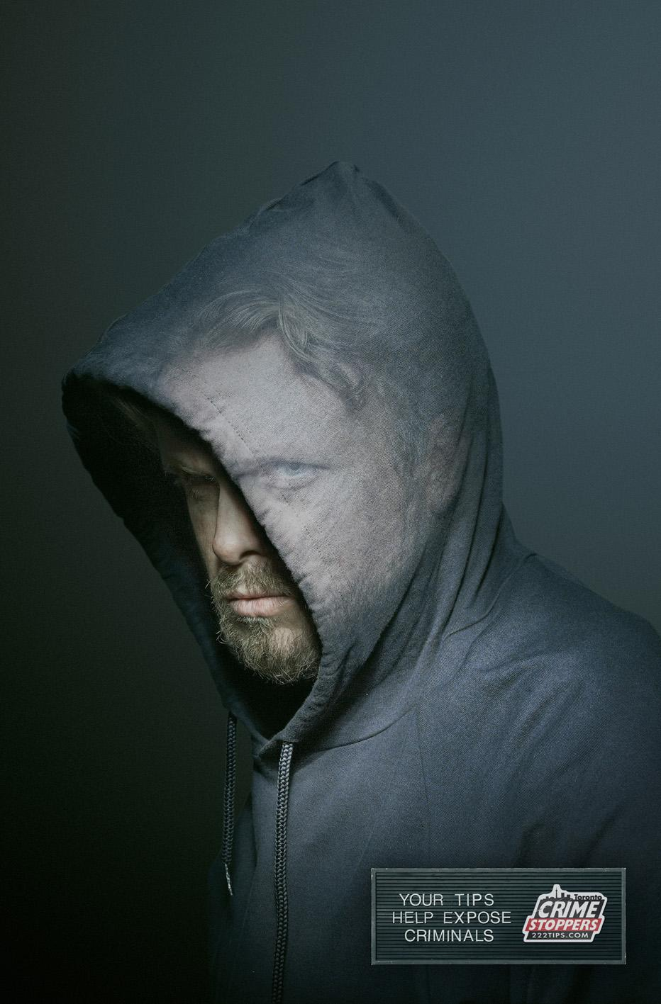 Crime Stoppers Print Ad -  Hoodie
