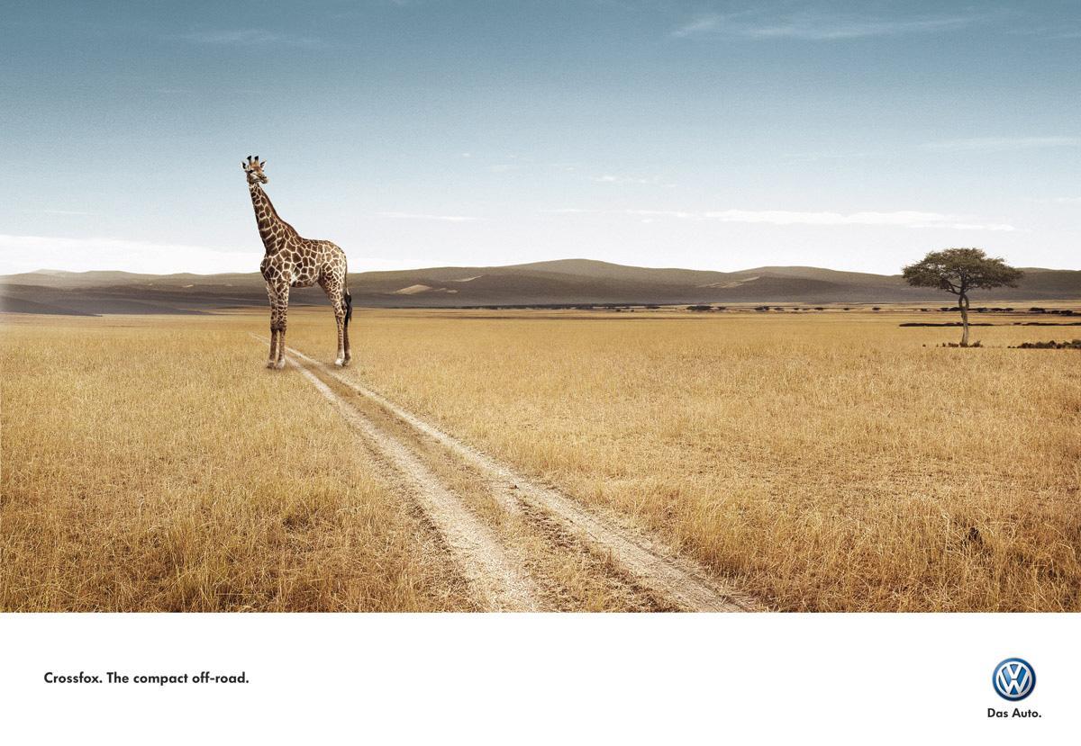 Volkswagen Print Ad -  Giraffe