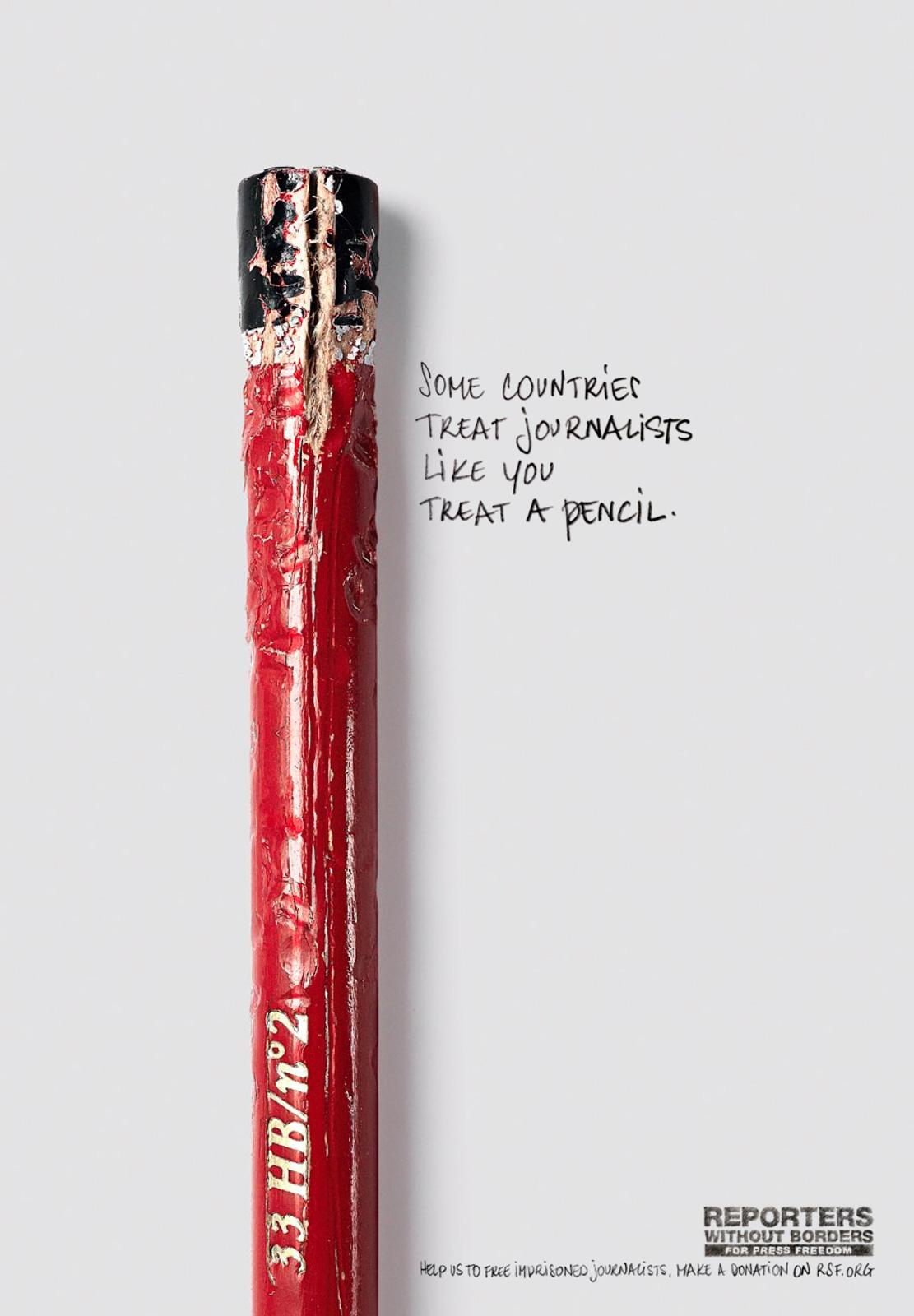 Reporters Without Borders Print Ad -  Crushed
