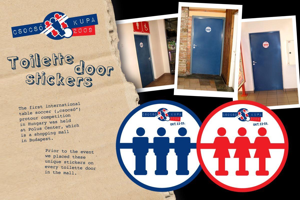 Csocsó Kupa Outdoor Ad -  Stickers