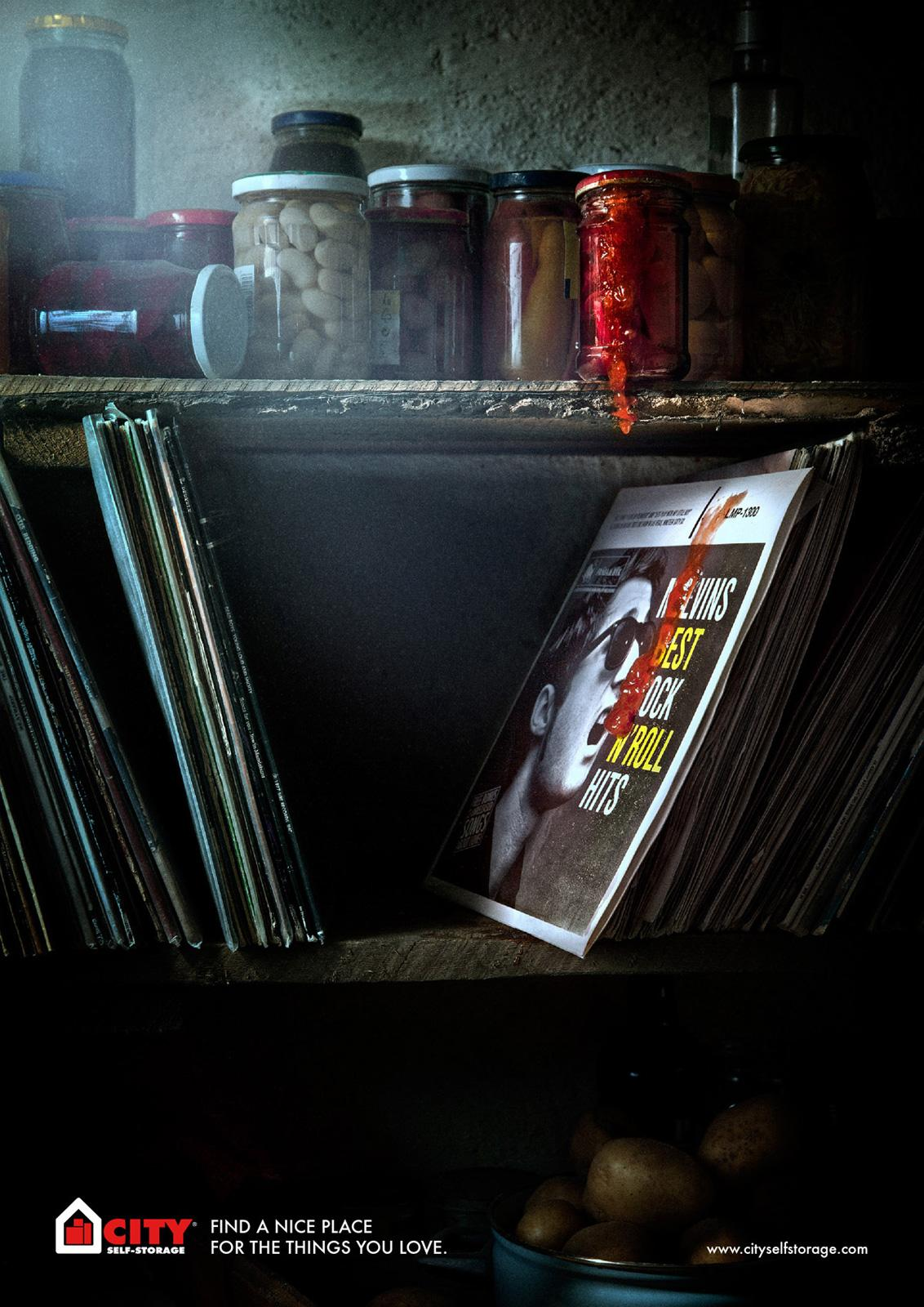 City Self Storage Print Ad -  Elvis