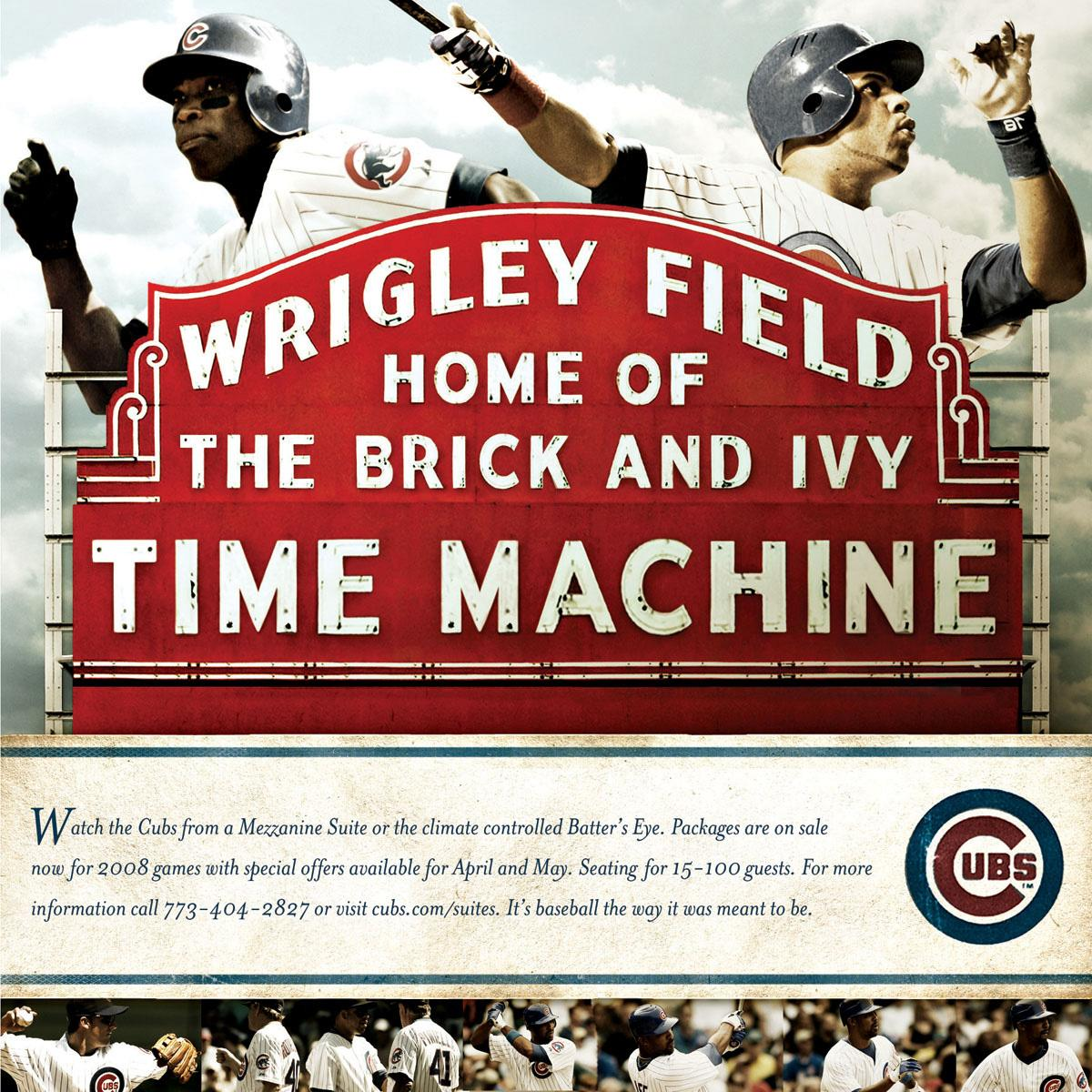 The Chicago Cubs Print Ad -  Time machine