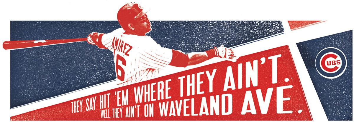 The Chicago Cubs Print Ad -  Waveland Ave