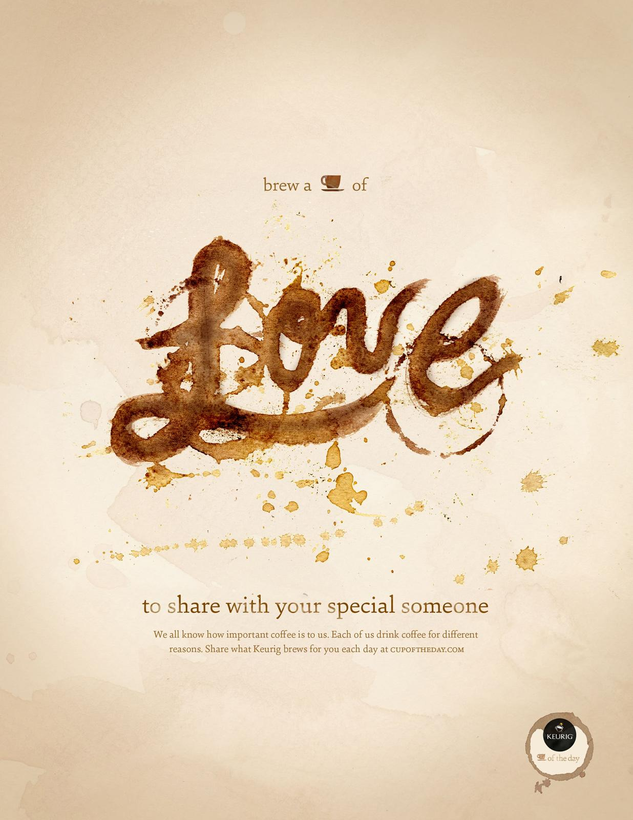 Keurig Print Ad -  Cup of the Day, Love