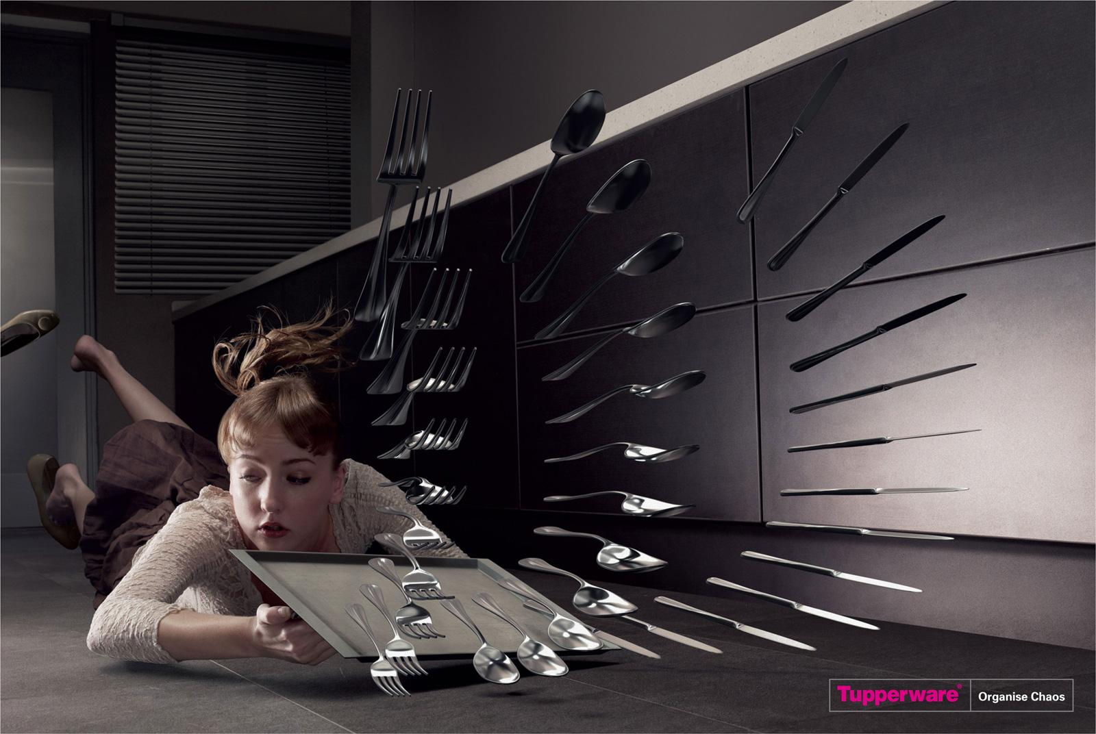 Tupperware Print Ad -  Cutlery