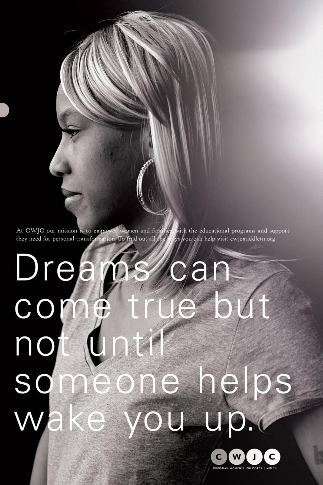 Christian Women's Job Corp Print Ad -  Dreams