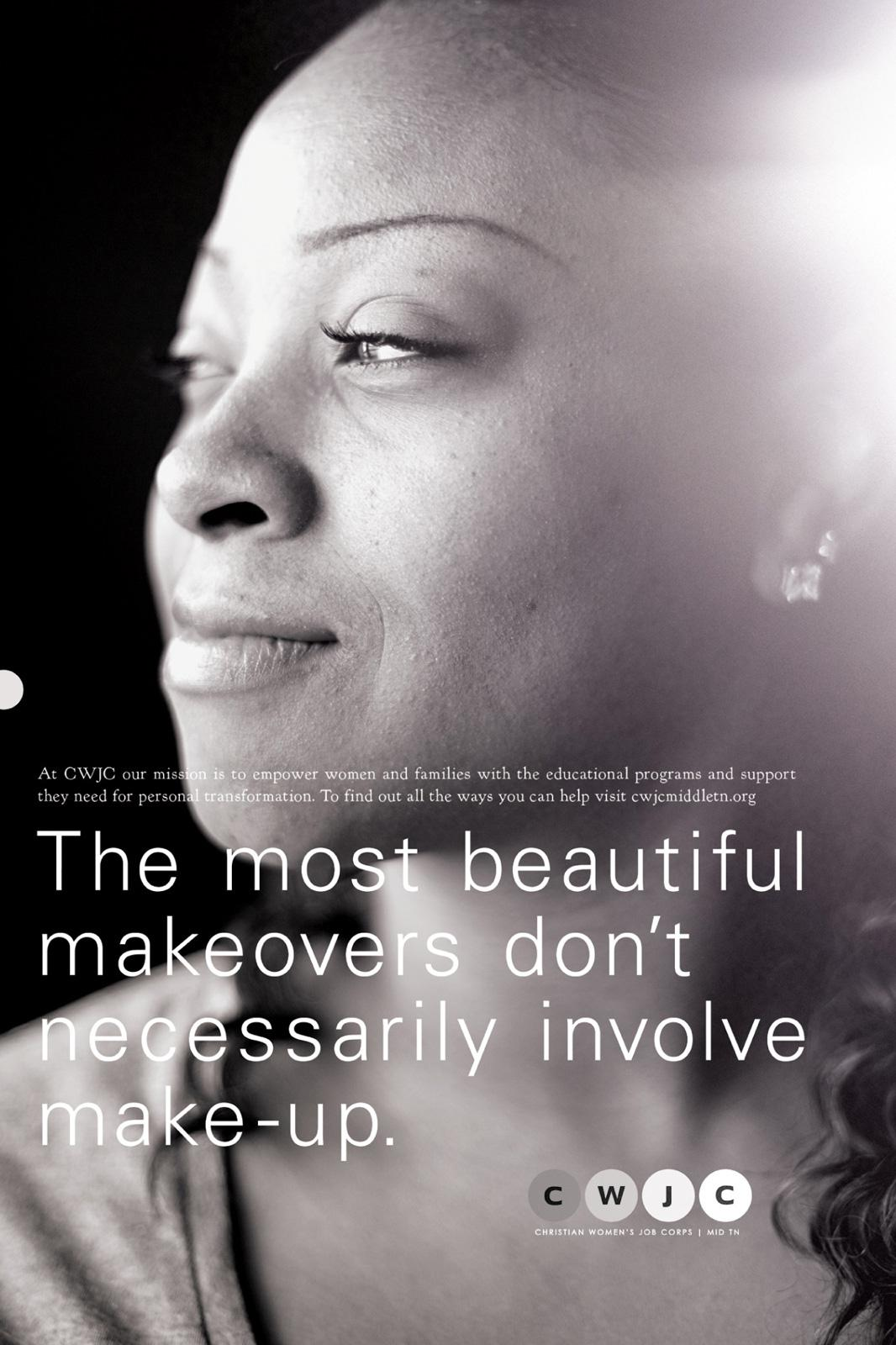 Christian Women's Job Corp Print Ad -  Make-up