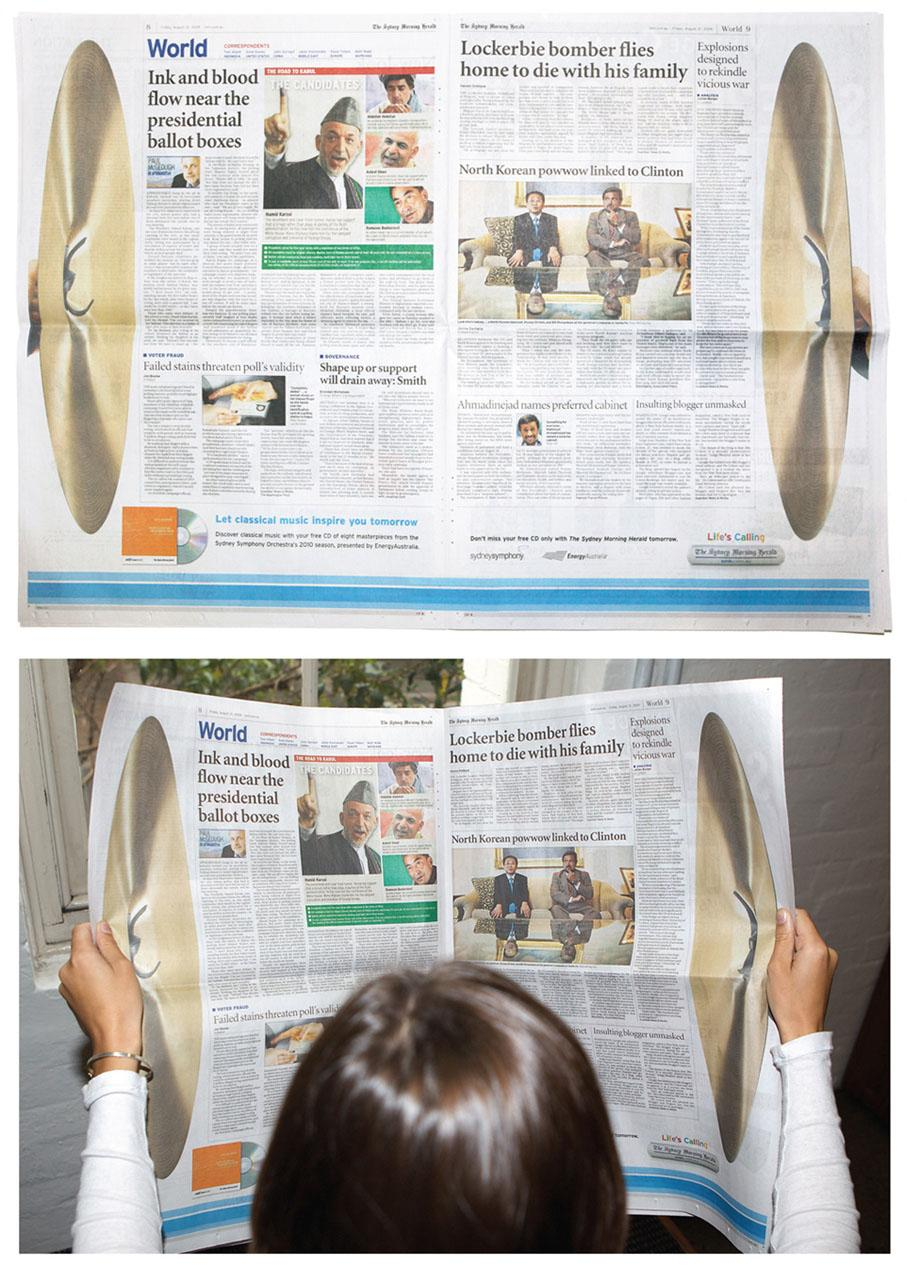 The Sydney Morning Herald Print Ad -  Cymbals