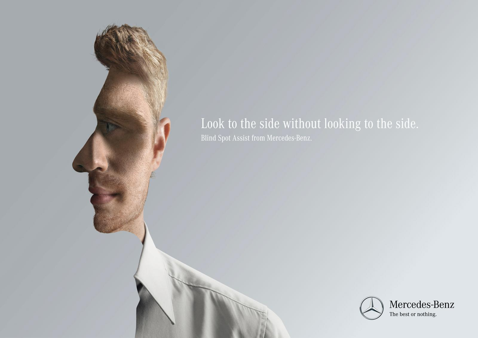 Mercedes Print Ad -  Look to the side, 2