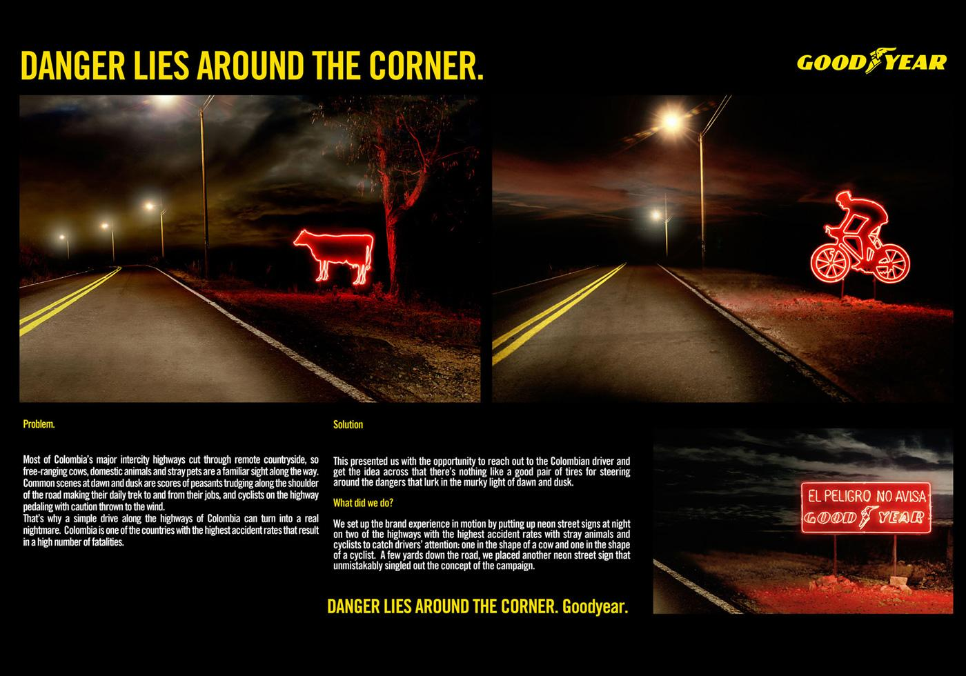 Goodyear Ambient Ad -  Neons
