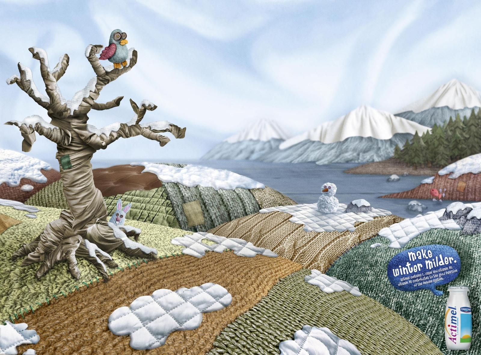 Danone Print Ad -  The Winter Is Milder