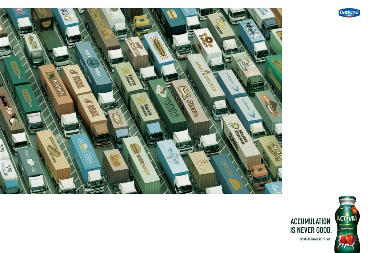 Danone Print Ad -  Traffic Jam