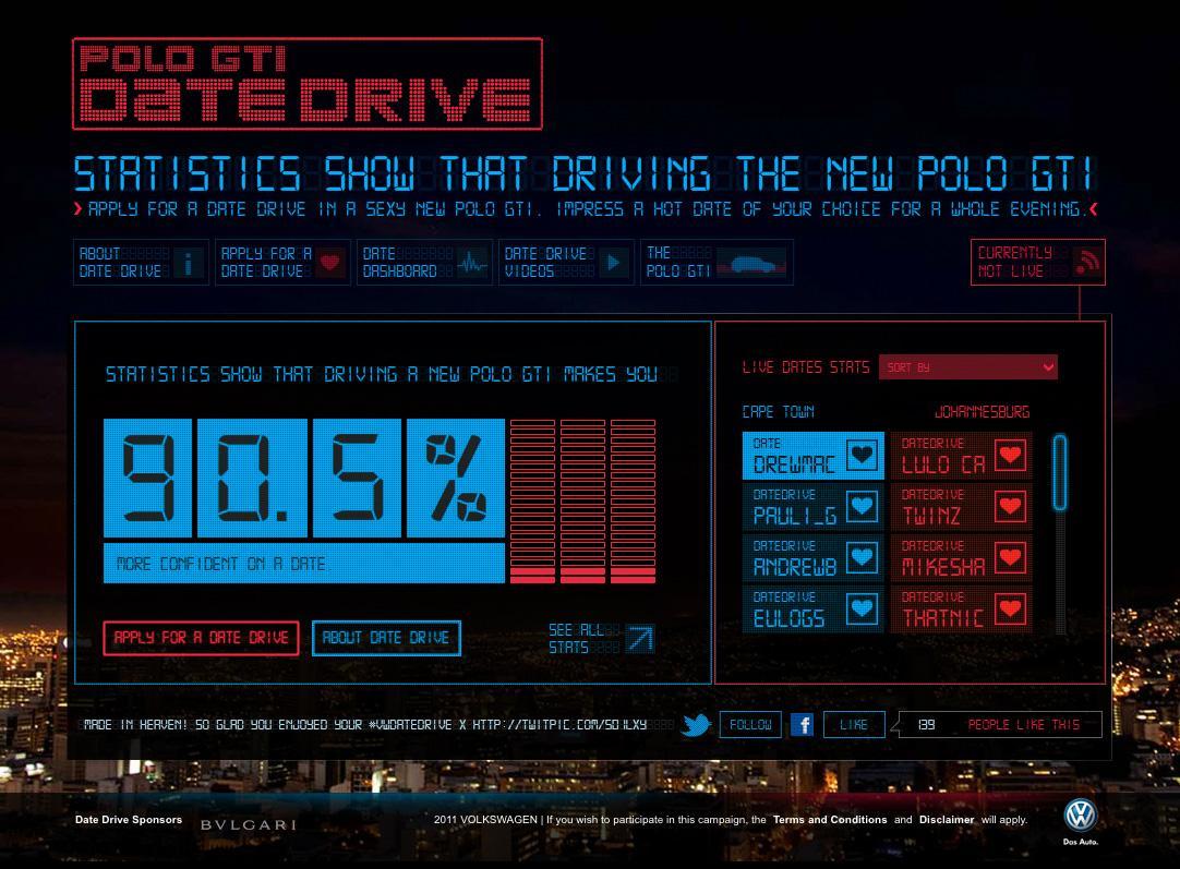 Volkswagen Digital Ad -  Date Drive