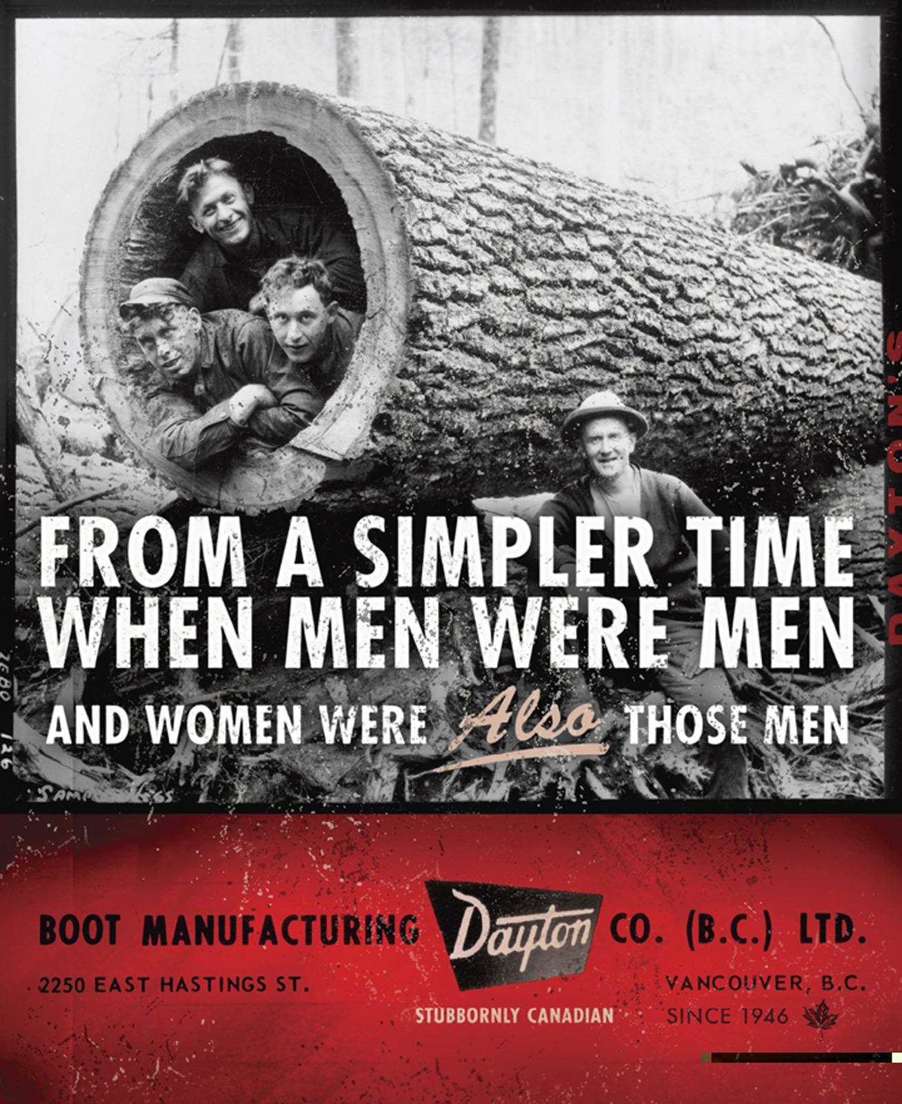 Dayton Boots Print Ad -  Women