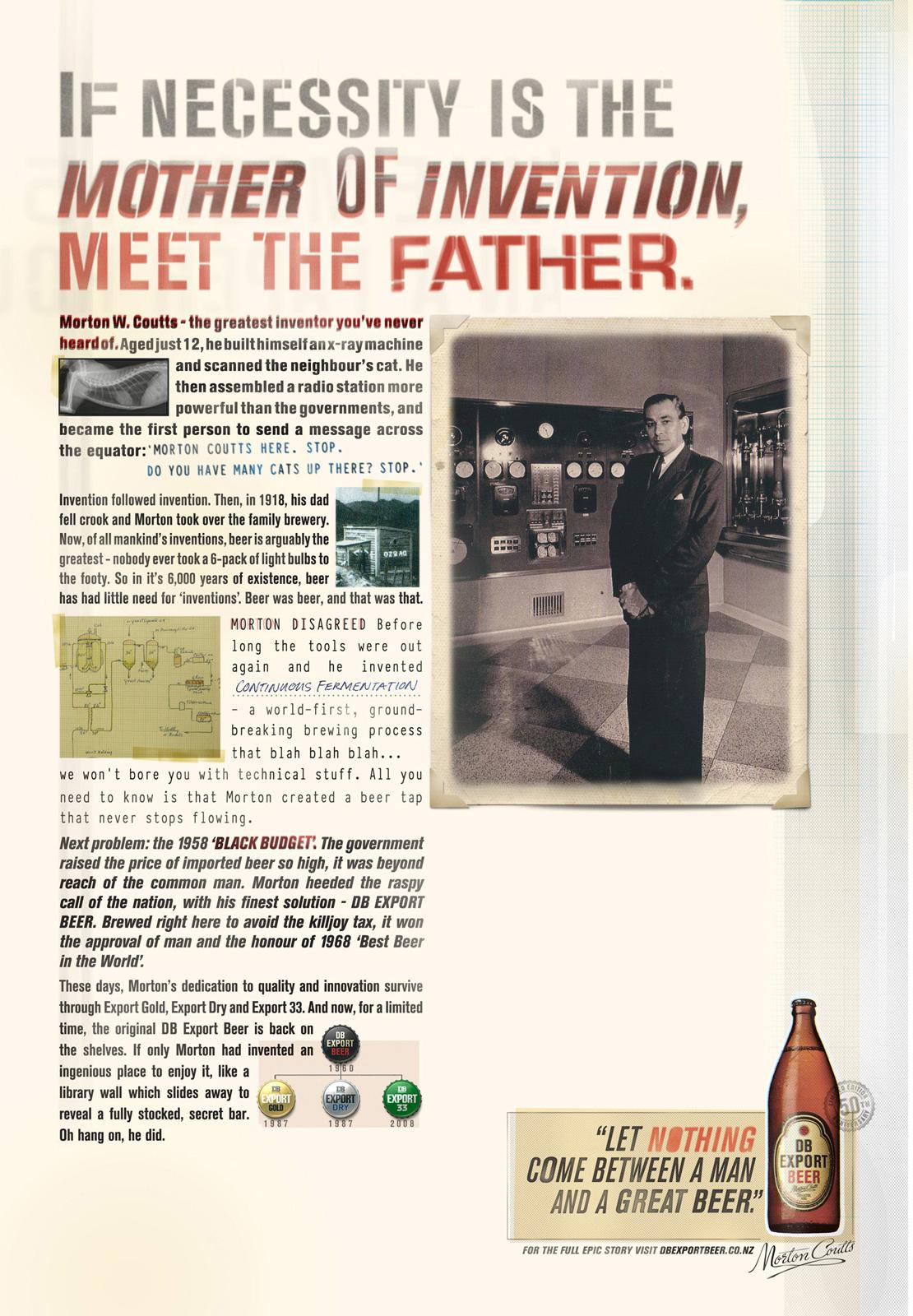 DB Export Beer Print Ad -  Invention