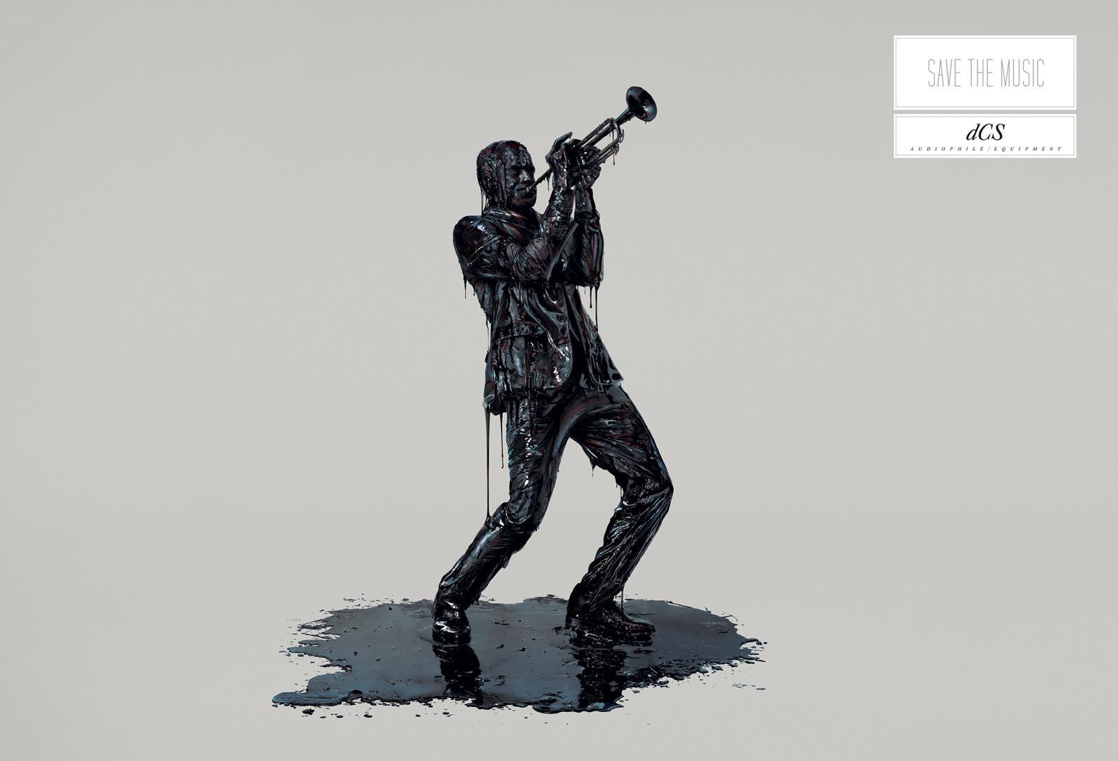 DCS Print Ad -  Save the music, Trumpet