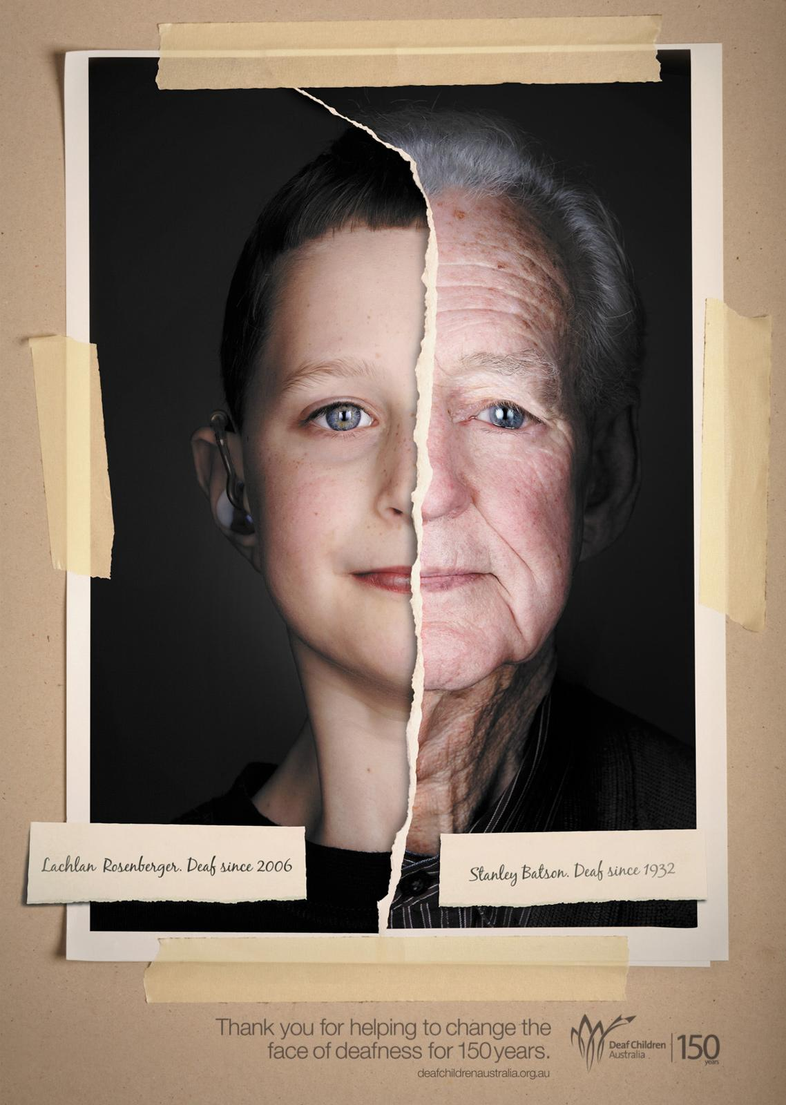 Deaf Children Australia Print Ad -  Changing the face of deafness