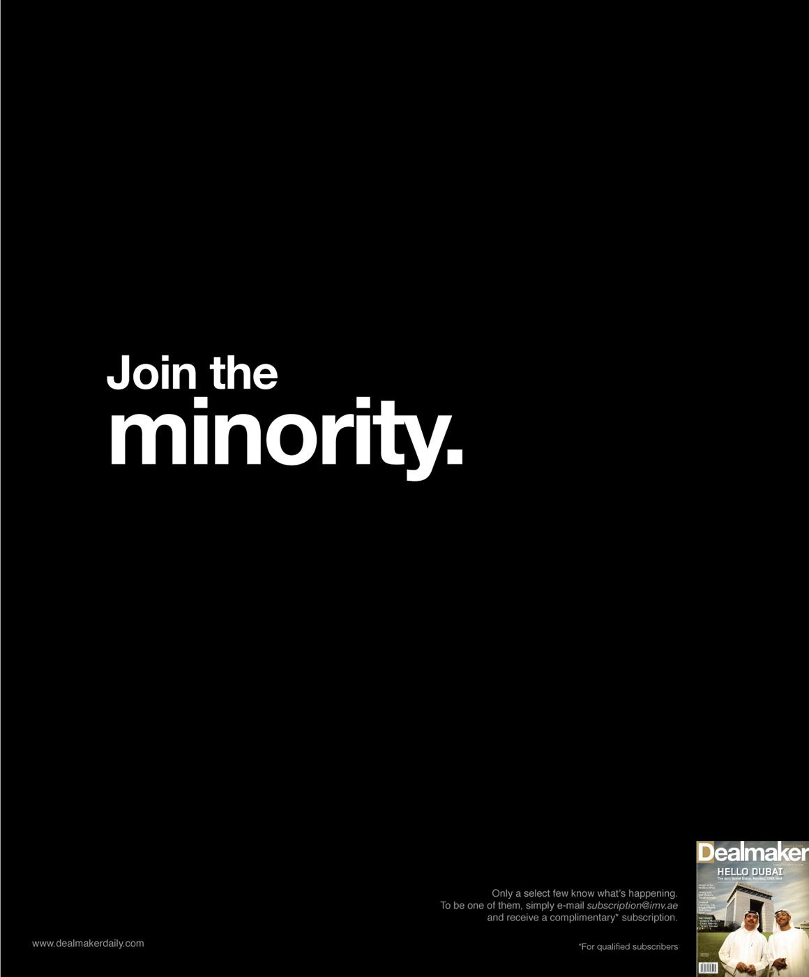Dealmaker Print Ad -  Minority