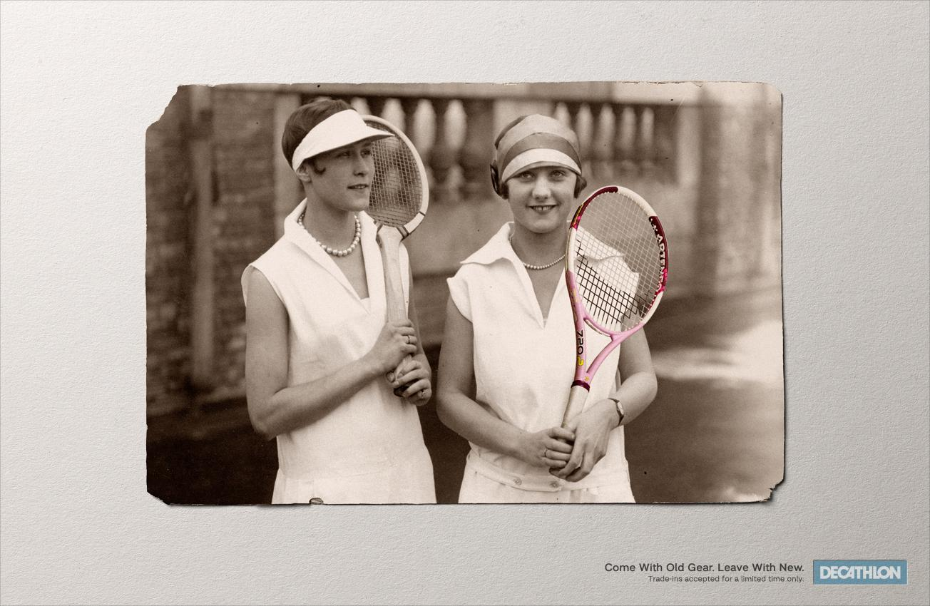 Decathlon Print Ad -  Tennis
