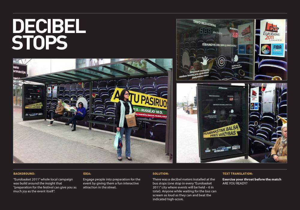 Eurobasket Ambient Ad -  Decibel stops