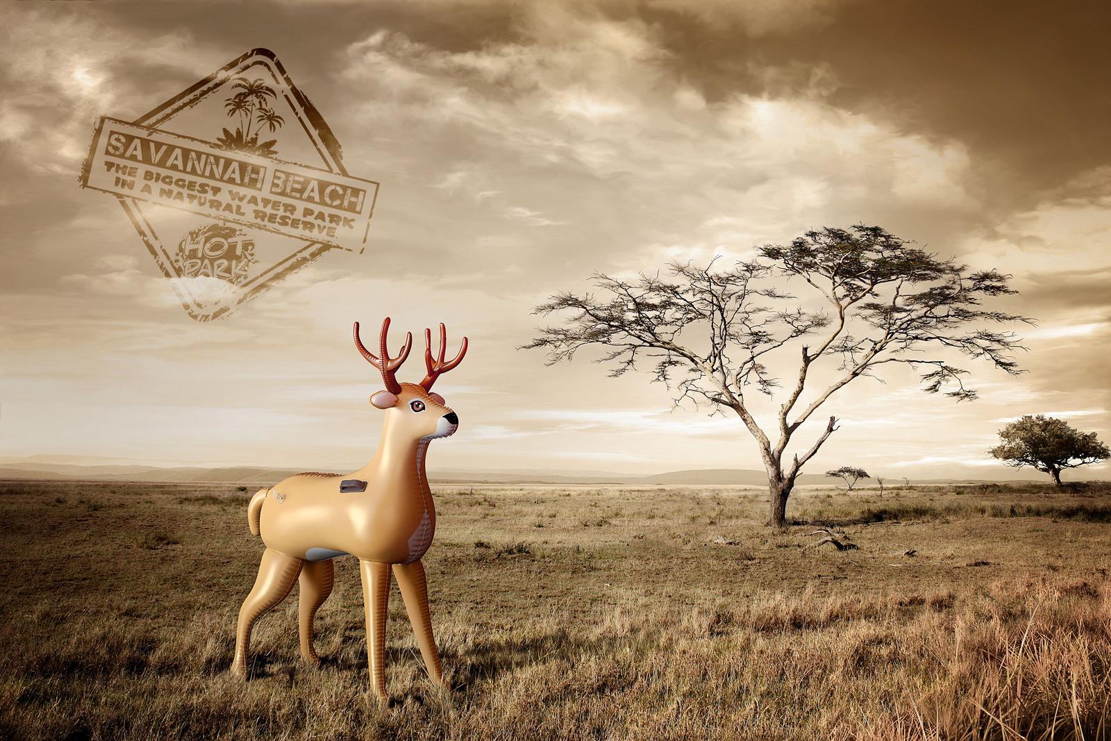 Hot Park Water park Print Ad -  Deer